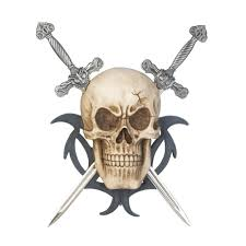 office plaque office plaques decorative mount skull two swords