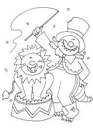 magnificent clown coloring pages with circus coloring pages