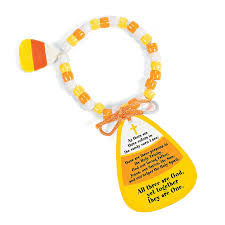 candy corn bracelet craft kit with card orientaltrading com