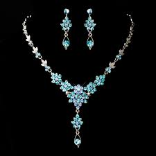 prom jewelry aqua jewelry set aquamarine prom jewelry