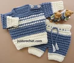 baby boy sweater boy s crochet sweater set allfreecrochet com