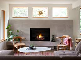 phenomenal floating gas fireplace on wall living room camilla