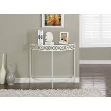 White Hallway Console Table I 2120 21 22 23 Metal 36