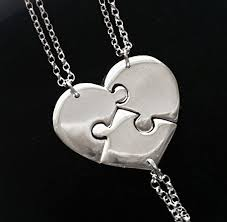 best friends puzzle necklace images Best friend necklaces for 3 sister necklaces for 3 jpg
