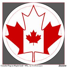 canada flag in maple leaf white 2 inch round button zazzle