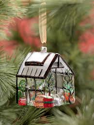 glass greenhouse christmas ornament gardener u0027s supply
