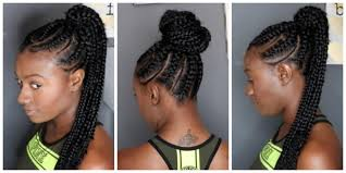 hair braided into pony tail feed in braids ponytail youtube