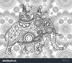 doodle indian doodle indian maharajah elephant ornate stock vector