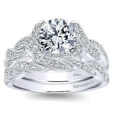 14k white gold wedding band 14k white gold ornate diamond wedding band with braided design