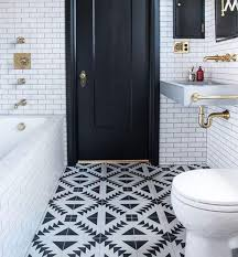 ideas astonishing patterned bathroom floor tiles black and white