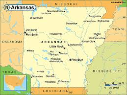 us map with arkansas arkansas political map by maps from maps world s