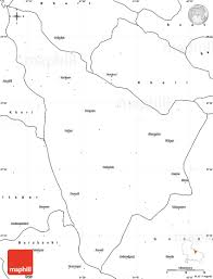 India Blank Outline Map by Blank Simple Map Of Bahraich