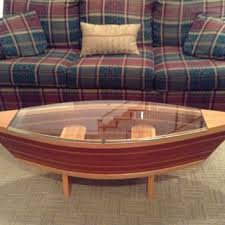 boat decor for home handmade canoe shaped glass top boat from rabon river runners