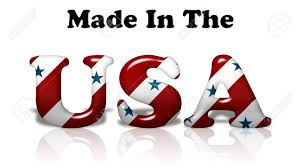 Flags Made In Usa The Words Made In The Usa In The American Flag Colors Isolated
