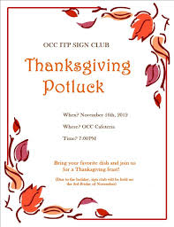 thanksgiving potluck invitation wording work cogimbo us