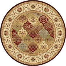 Round Persian Rug by Floors U0026 Rugs Persian Red Round Area Rugs For Traditional