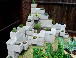 Corner Garden Ideas And Corner Gardens You Can Make Out Of Cinder Blocks