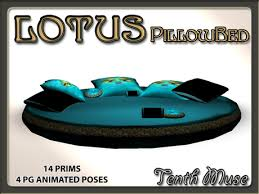 second life marketplace lotus pillow bed