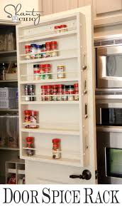 Kitchen Pantry Doors Ideas Kitchen Organization Diy Foil U0026 More Organizer Door Spice Rack