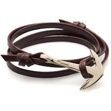bracelet leather anchor images Leather anchor bracelet centerpieces bracelet ideas jpeg