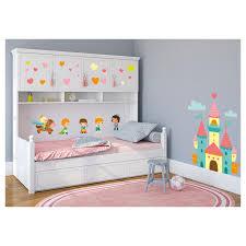 stickers chambre fille princesse stickers muraux coeurs pour la décoration