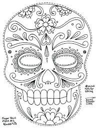 sugar skull coloring sheets stipendiya info