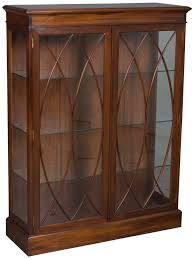 Mahogany Bookcase With Glass Doors Antique Mahogany Bookcase Glass Doors Mahogany Bookcase