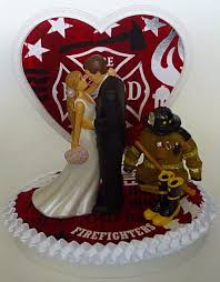 firefighter wedding cake wedding cake topper fireman department firefighter themed