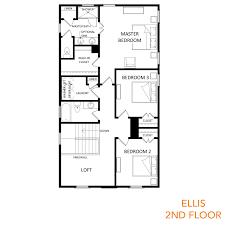 floor plan 2nd floor the ellis wl sabal homes