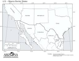 map us mexico border states map of mexico terrain area and outline maps of mexico blank usa