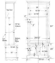 free gun cabinet plans with dimensions gun cabinet plans for free home design ideas