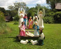 Outdoor Nativity Lighted - htf vintage poloron nativity joseph mary jesus lighted blow mold