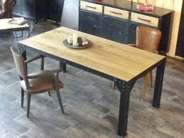 table cuisine bois table cuisine style industriel grande table de salle a manger en