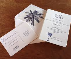 palm tree wedding invitations palm tree wedding invitations for summer letterpress wedding