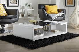 Black Gloss Glass Coffee Table Black White High Gloss Coffee Table Furniturebox