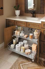 bathroom vanities ideas the unique u shape of this sink base cabinet slide out fits around