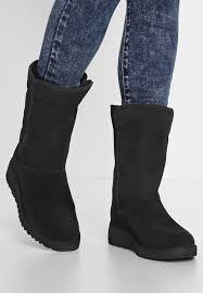 zalando womens boots uk ugg amie wedge boots black zalando co uk