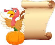 thanksgiving scroll with turkey 1 illustration 15872674 megapixl