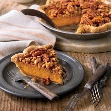 pecan pie thanksgiving pumpkin pecan streusel pie recipe myrecipes