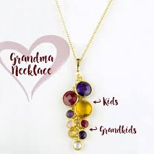 birthstones necklace for custom birthstone necklace for mothers day gift for