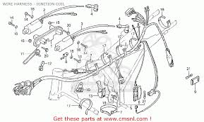honda cb125t england wire harness ignition coil schematic