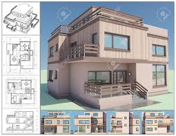 isometric drawing house plans views of small kerala home design