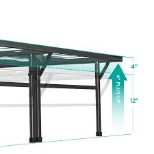 full size 18 inch high rise folding metal platform bed frame