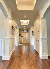 Coffered Ceiling Lighting by Floor To Ceiling Glass Panels Hall Traditional With Custom