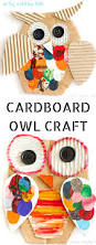 recycled cardboard owl craft owl crafts crafty kids and owl