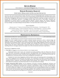 Business Systems Analyst Resume Sample by Investment Analyst Resume Sop Proposal