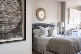 Light Grey Headboard Gray Velvet Tufted Headboard Transitional Bedroom Alice Lane