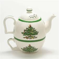 spode tree china teapot