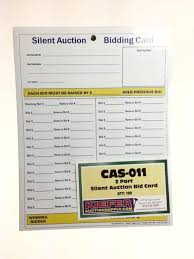 silent auction full page bidding sheet 8 1 2