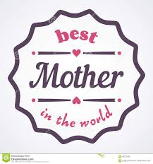 happy mothers day typographical illustration the best mother in